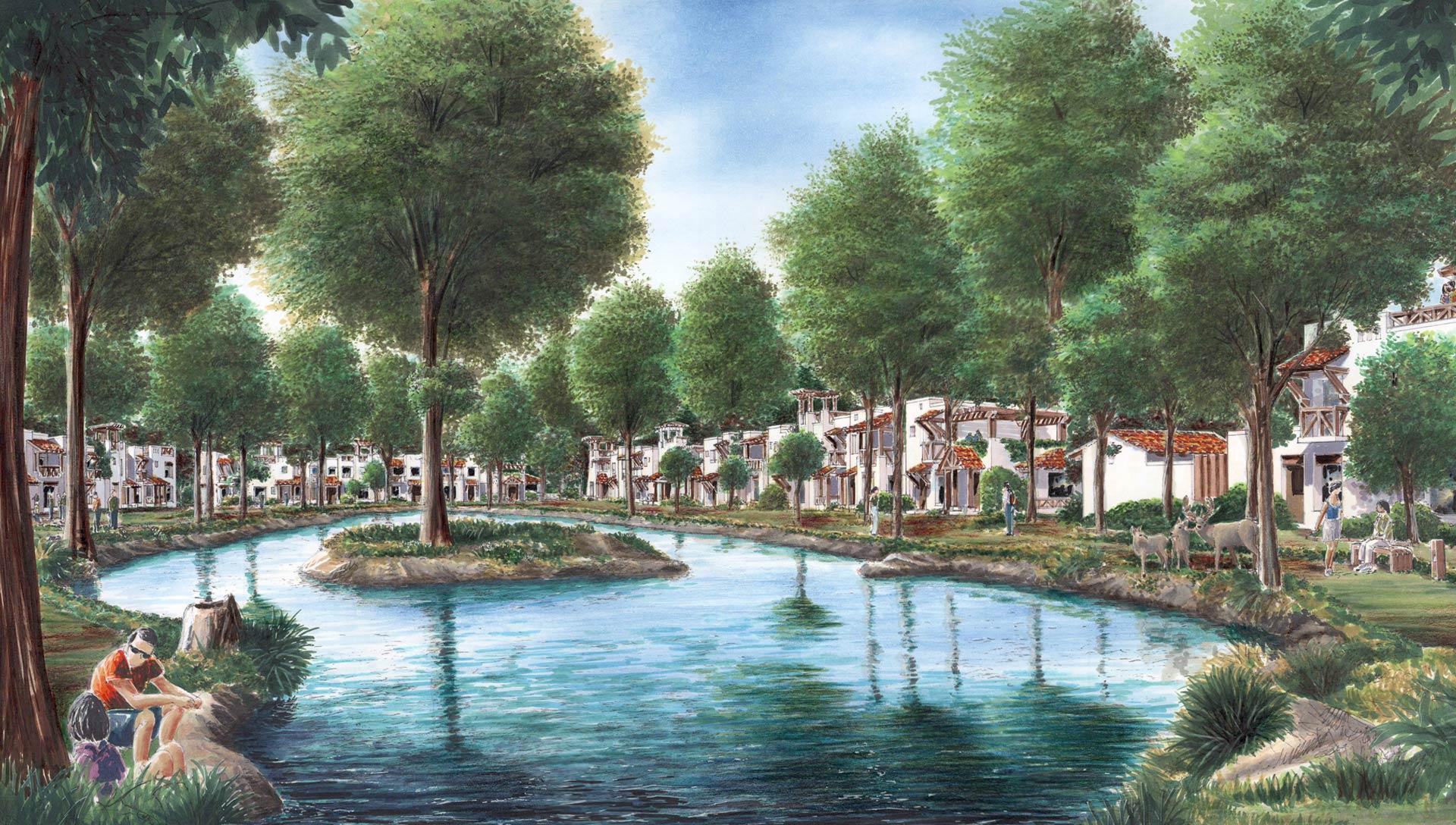 Lago de ciervos comunidad urbana diseñada por Grupo Link
